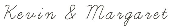 Kevin & Margaret signature